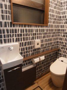 施工事例 シックな大人リフォーム トイレ 1F